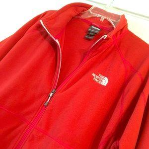 Men's red North Face fleece
